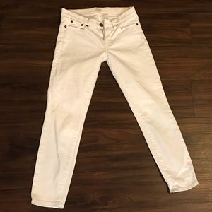 J.Crew skinny white jeans 👖